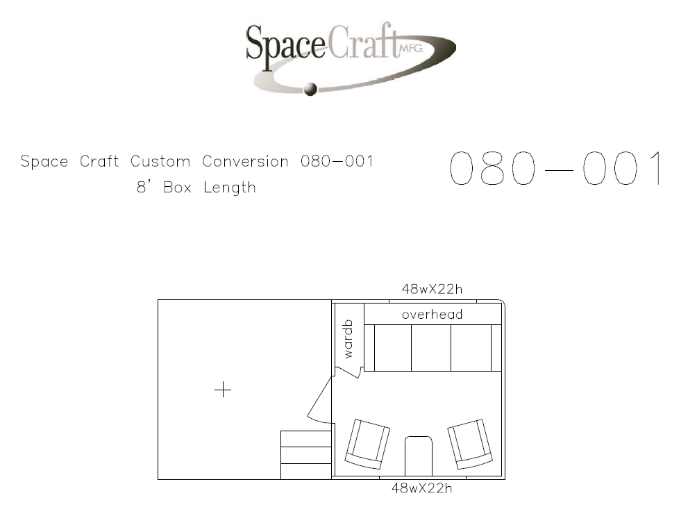 8 foot floor plan 080-001