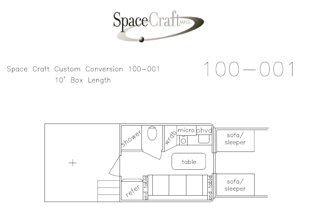 10 foot floor plan 100-001