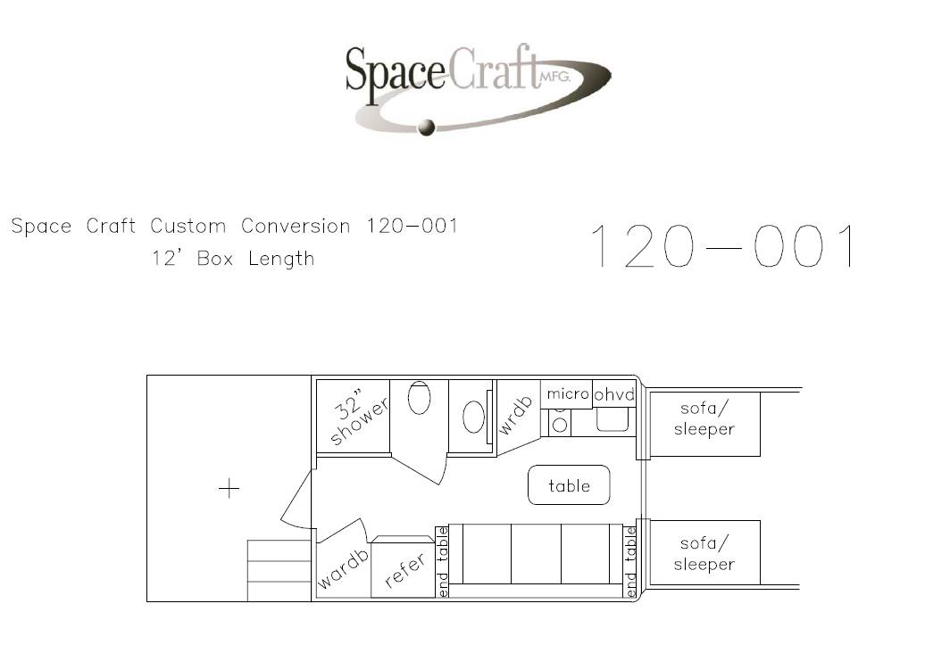 12 foot floor plan 120-001