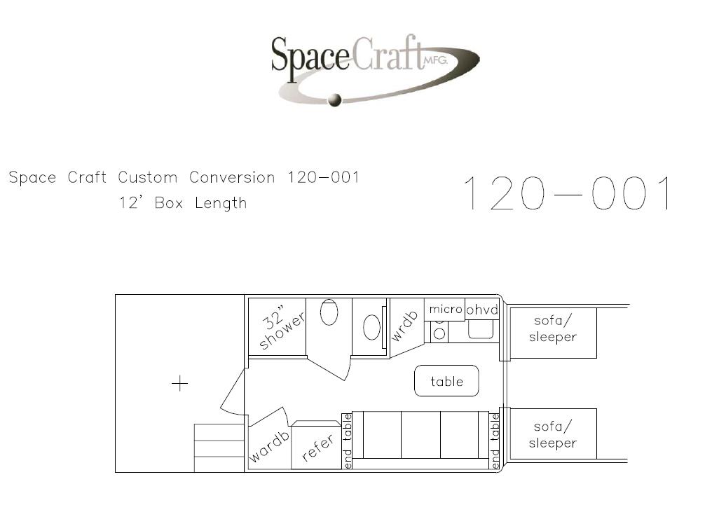 12 foot floor plan 120-001
