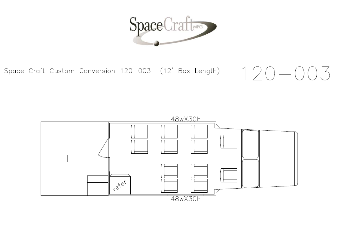 12 foot floor plan 120-003