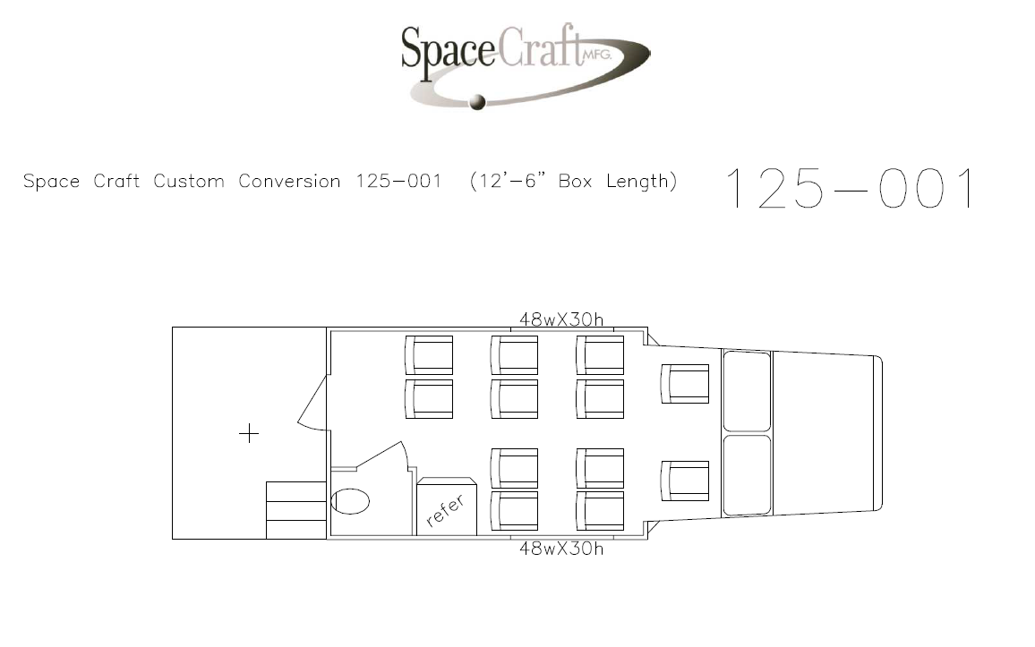 12.5 foot floor plan 125-001