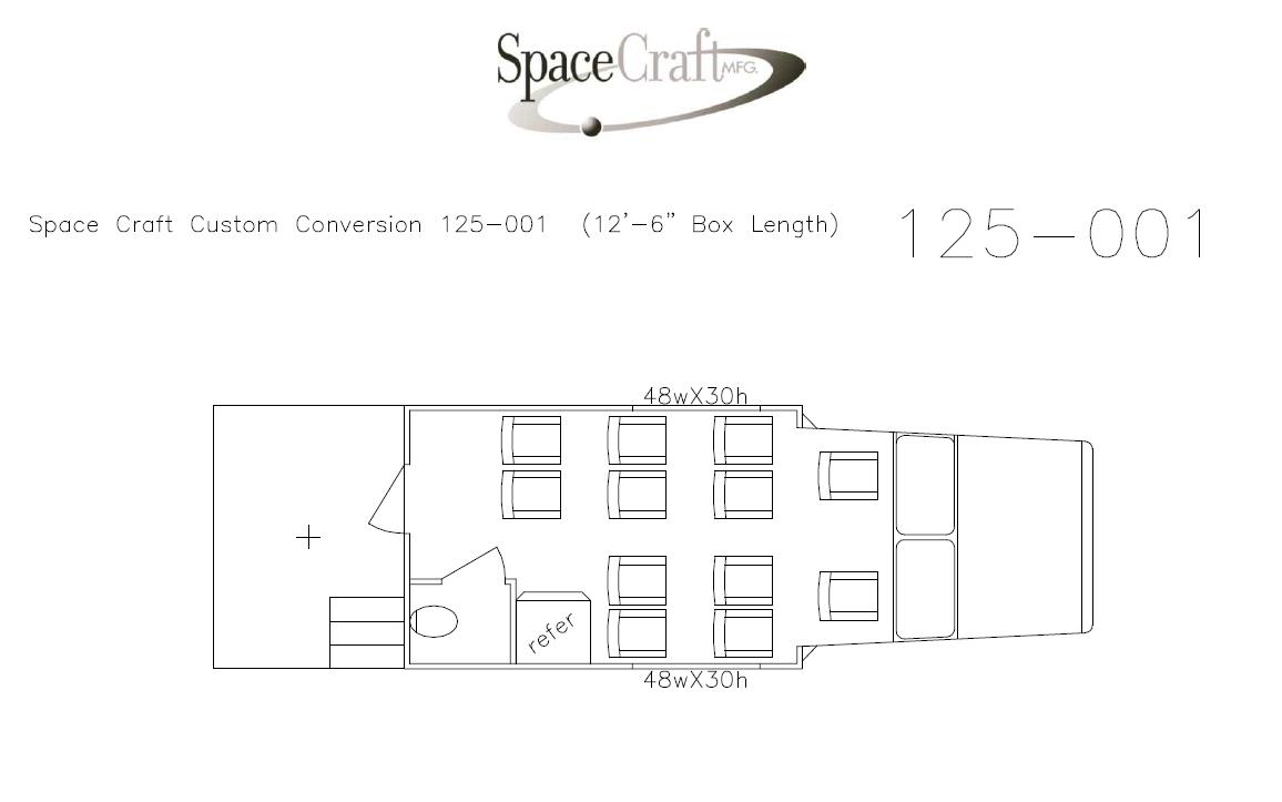 12.5 foot floor plan 125-001
