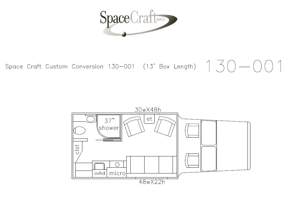13 foot floor plan 130-001