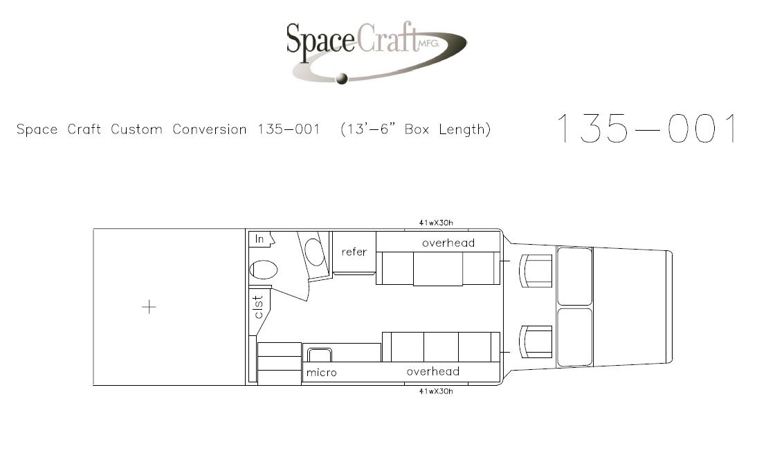13.5 foot floor plan 135-001