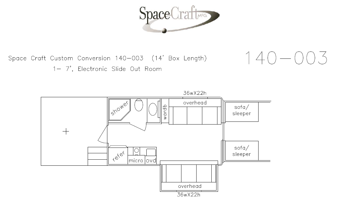 14 foot floor plan 140-003