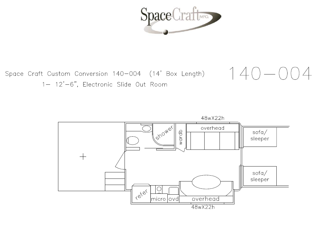 14 foot floor plan 140 - 004
