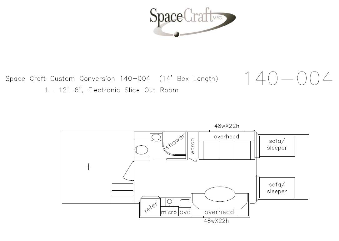 14 foot floor plan 140 - 004