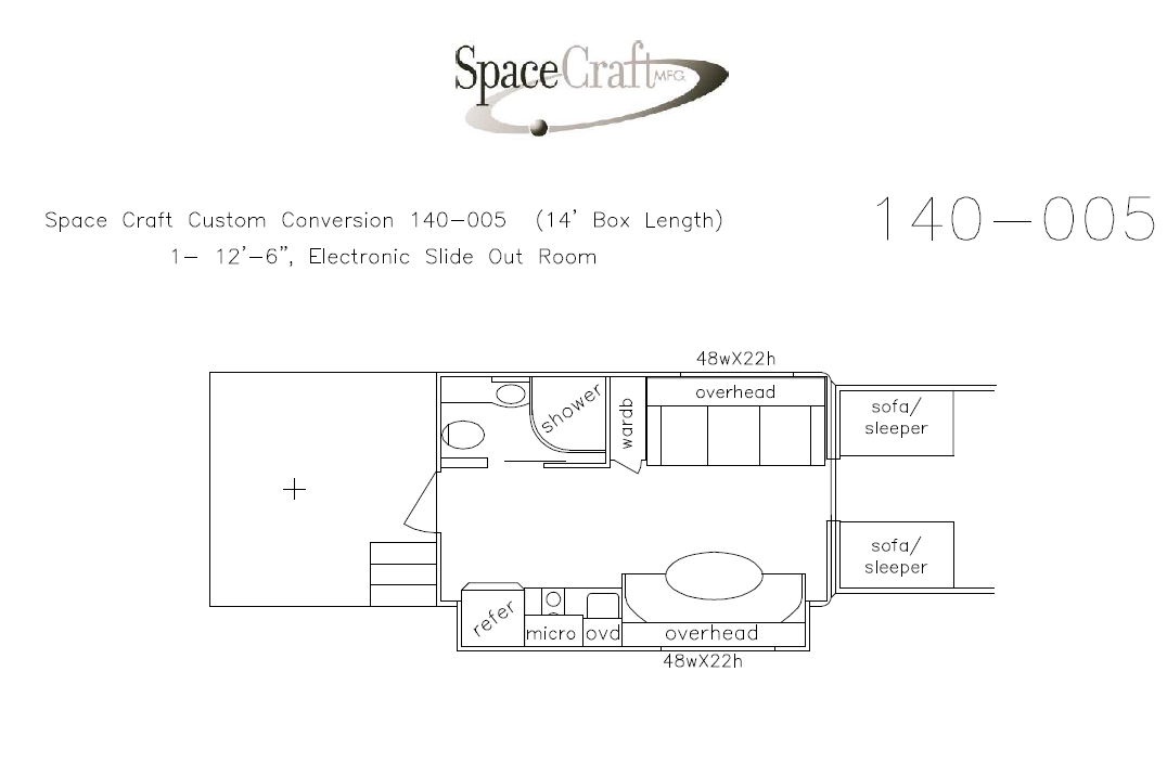 14 foot floor plan 140 - 005