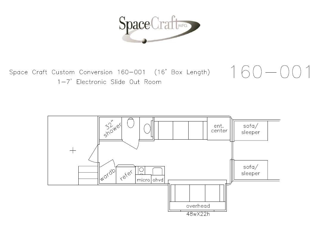 16 foot floor plan 160 - 001