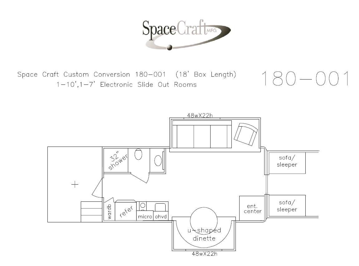 18 foot floor plan 180 - 001