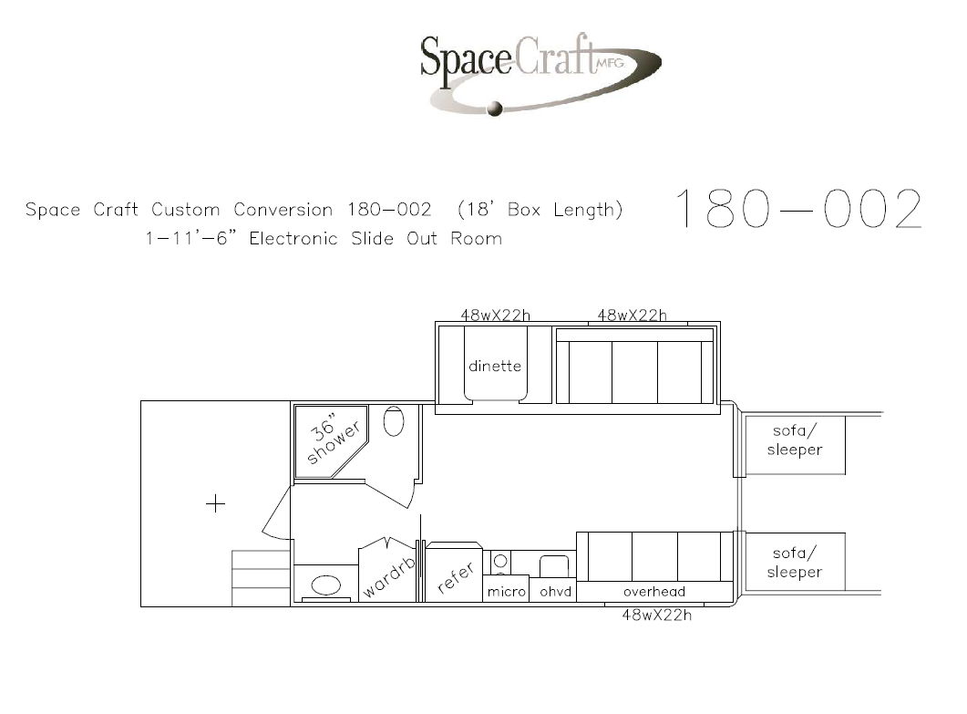 18 foot floor plan 180 - 002