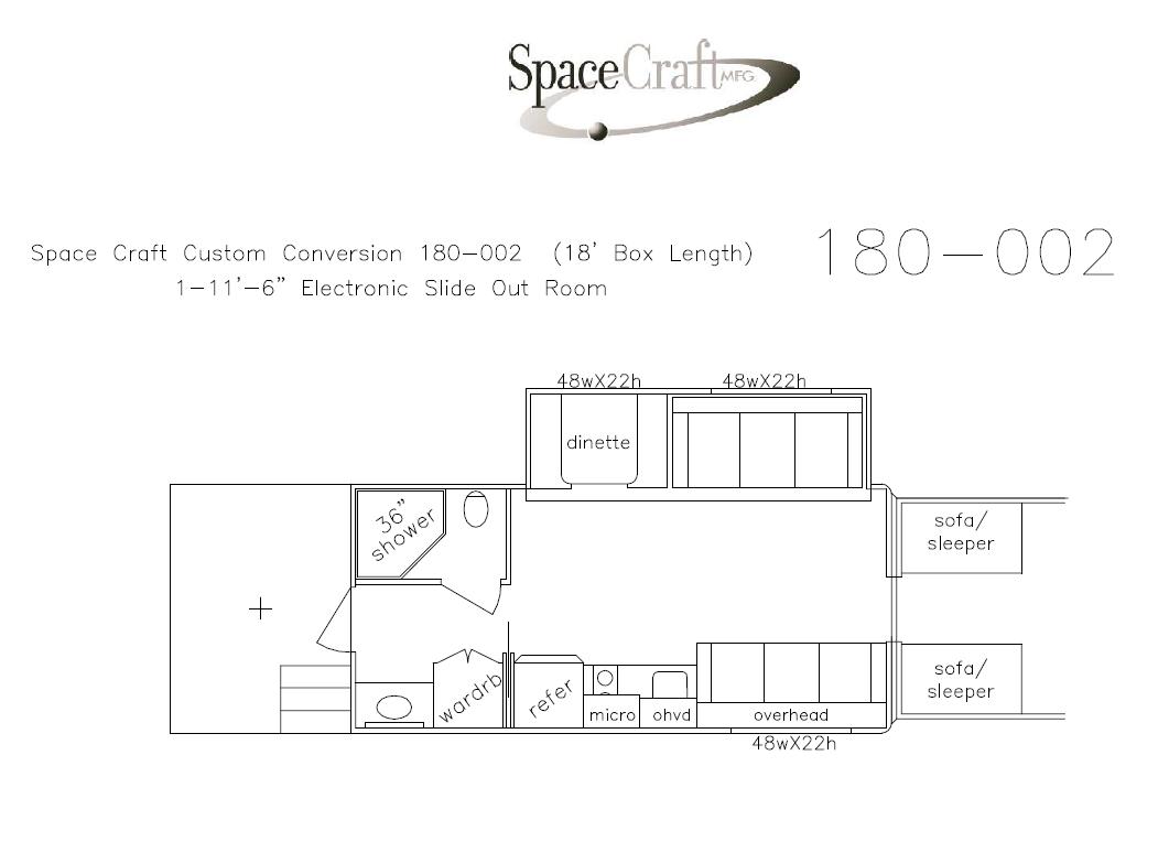 18 foot floor plan 180 - 002