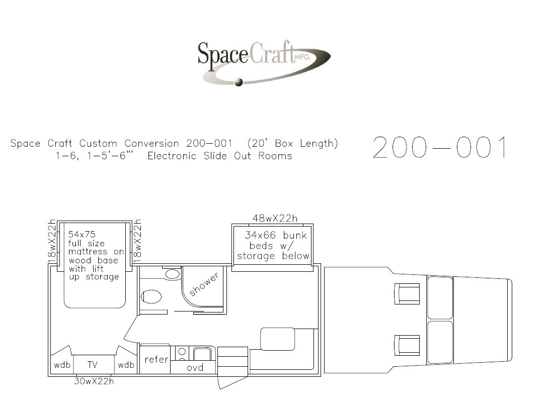 20 foot floor plan 200 - 001