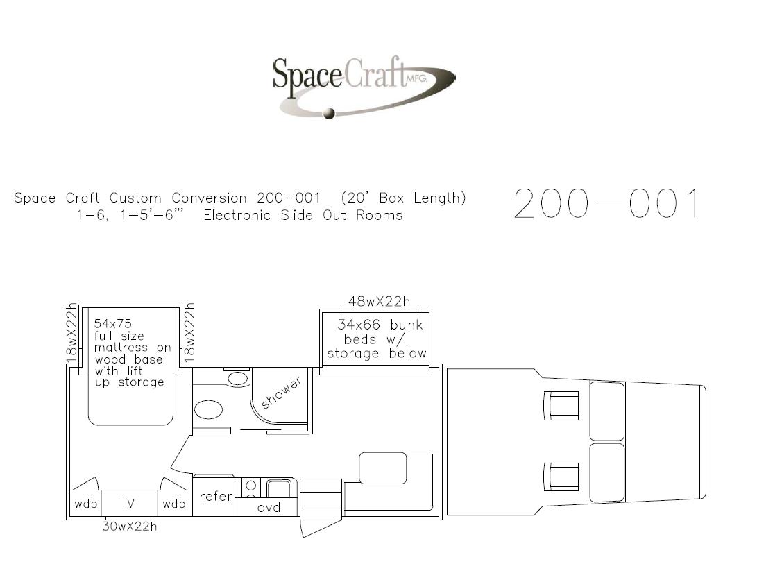20 foot floor plan 200 - 001