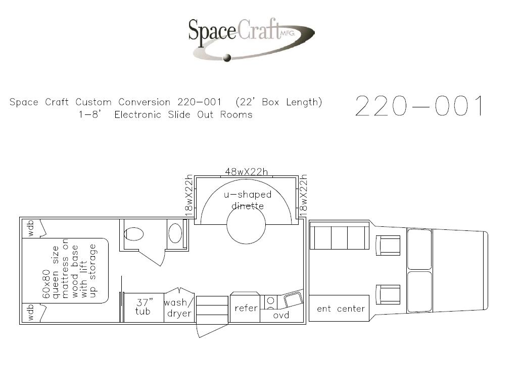 22 foot floor plan 220-001