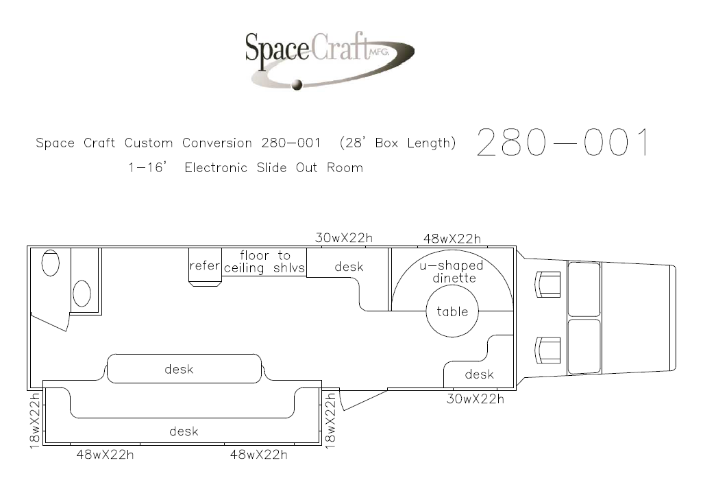 28 foot floor plan 280 - 001