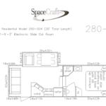 28 foot floor plan 280-004