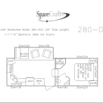 28 foot floor plan 280-005