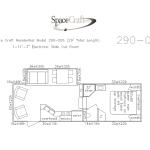 29 foot floor plan 290-006