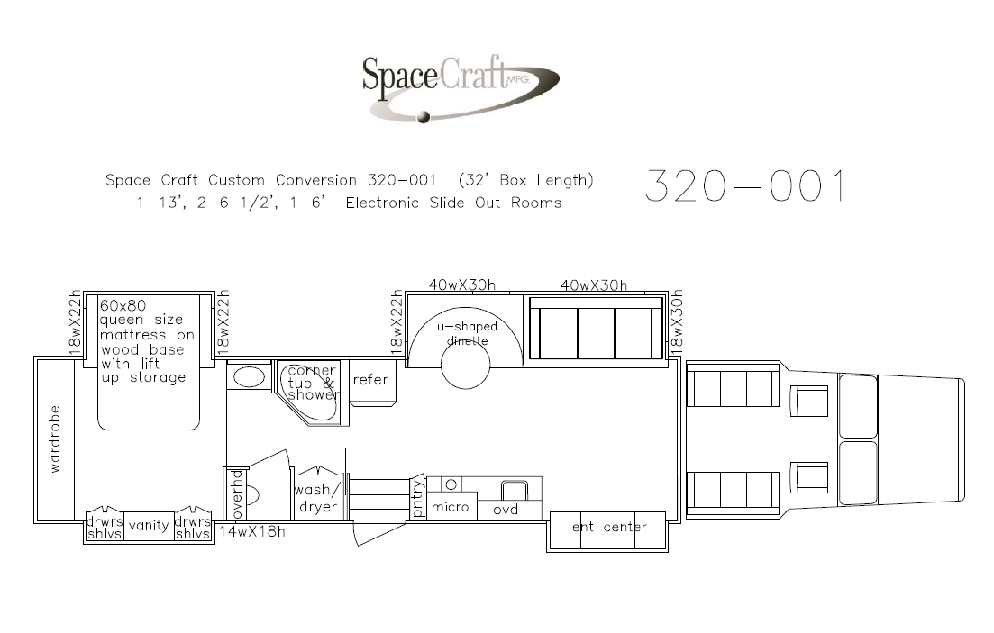32 foot floor plan 320 - 001