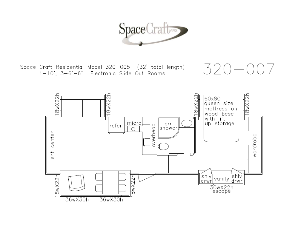 32 foot floor plan 320-007
