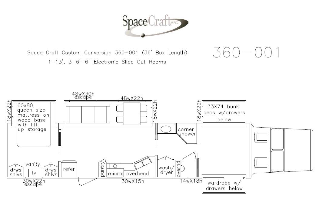 36 foot floor plan 360 - 001
