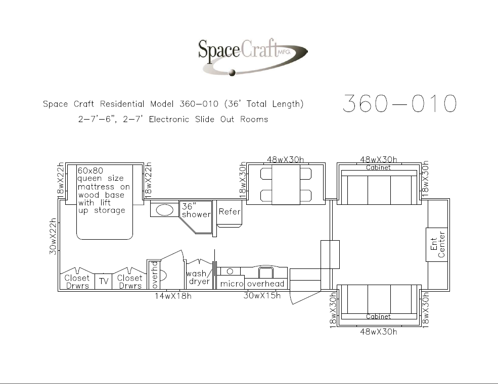 36 foot floor plan 360-010