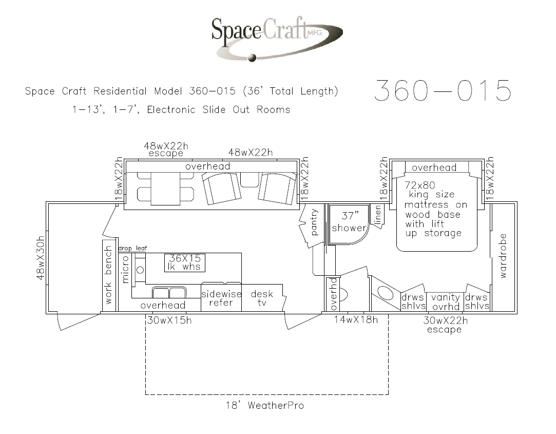 36 foot floor plan 360-015