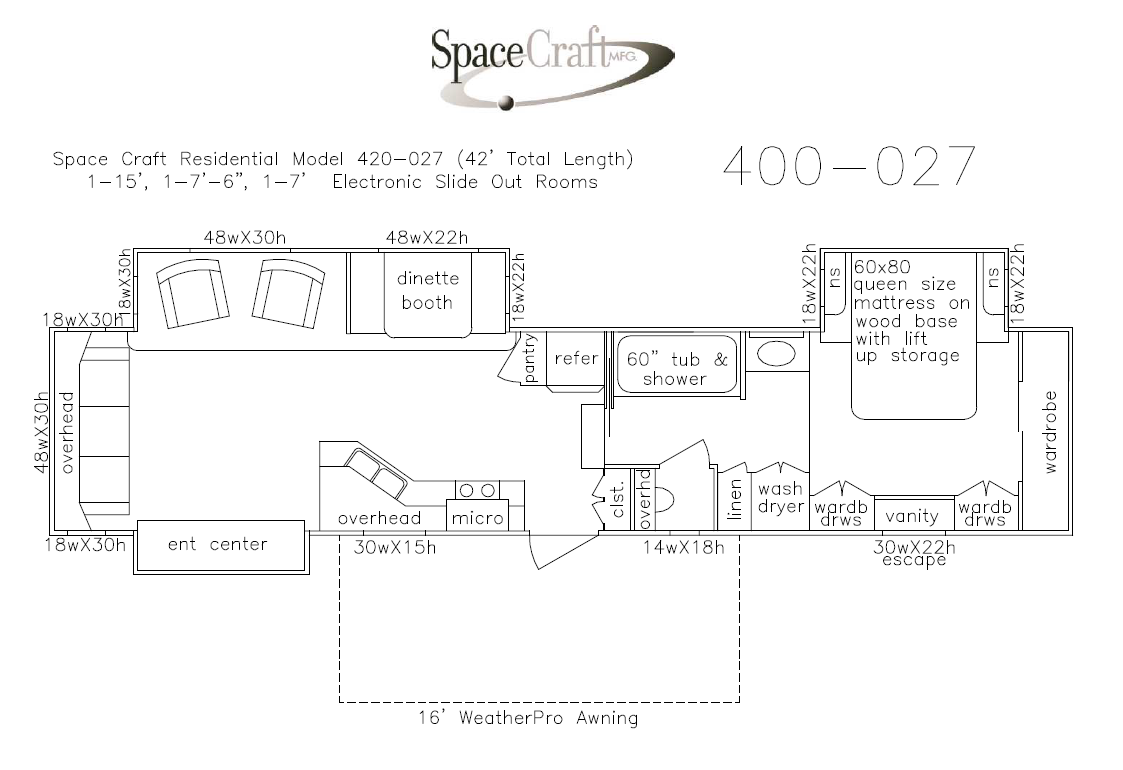 40 foot floor plan 400-027