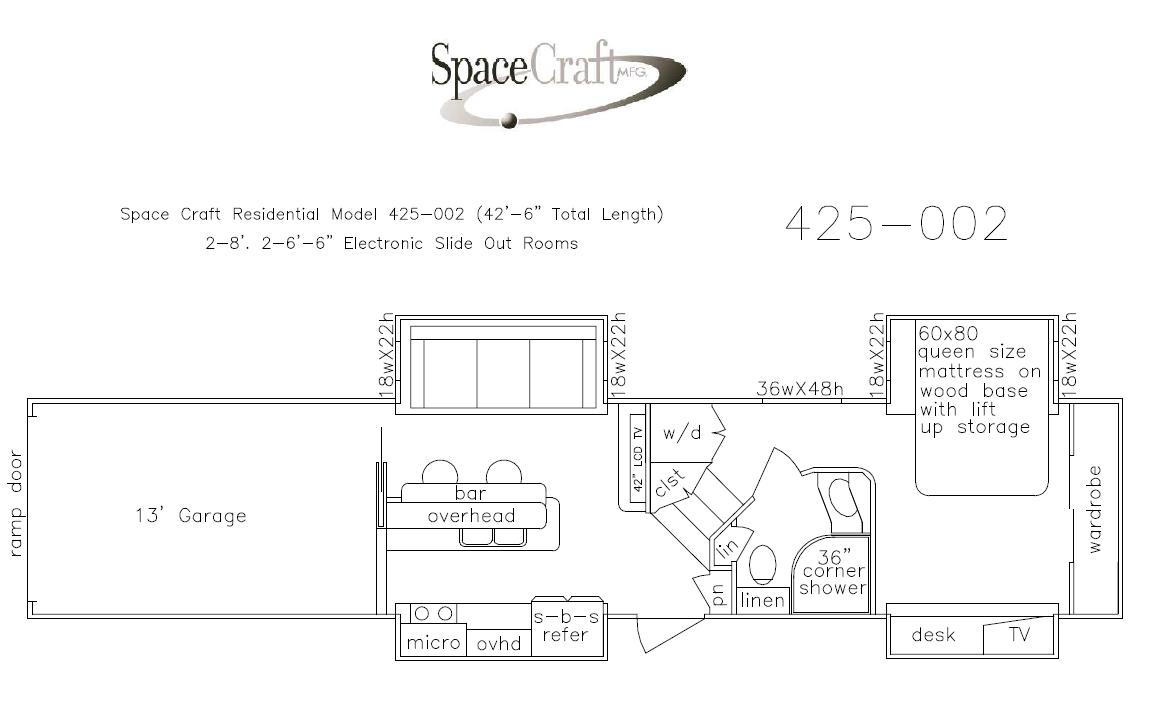 42.5 foot floor plan 425-002