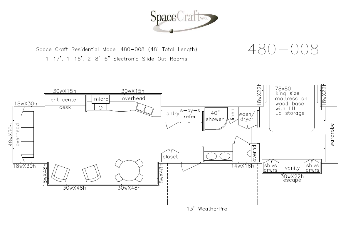 48 foot floor plan 480-008