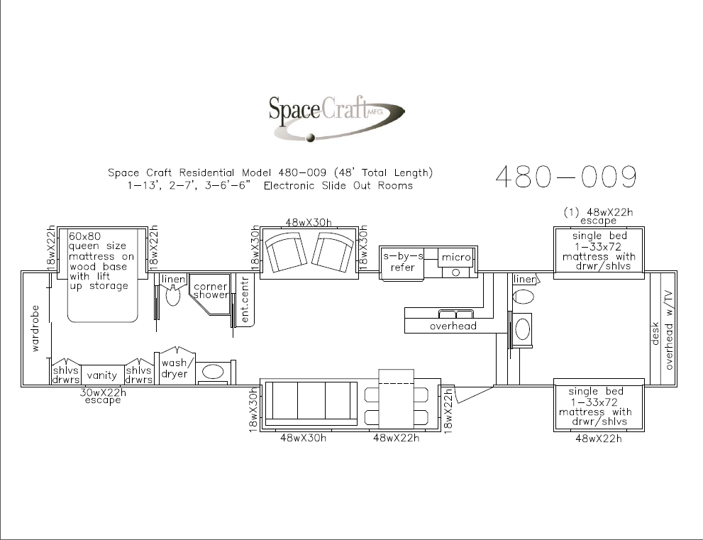 48 foot floor plan 480-009