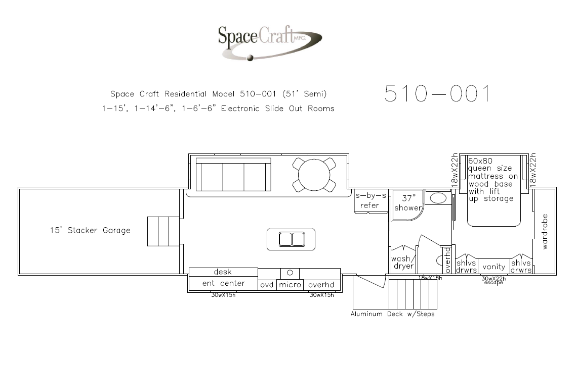 51 Foot Floor Plan 510-001