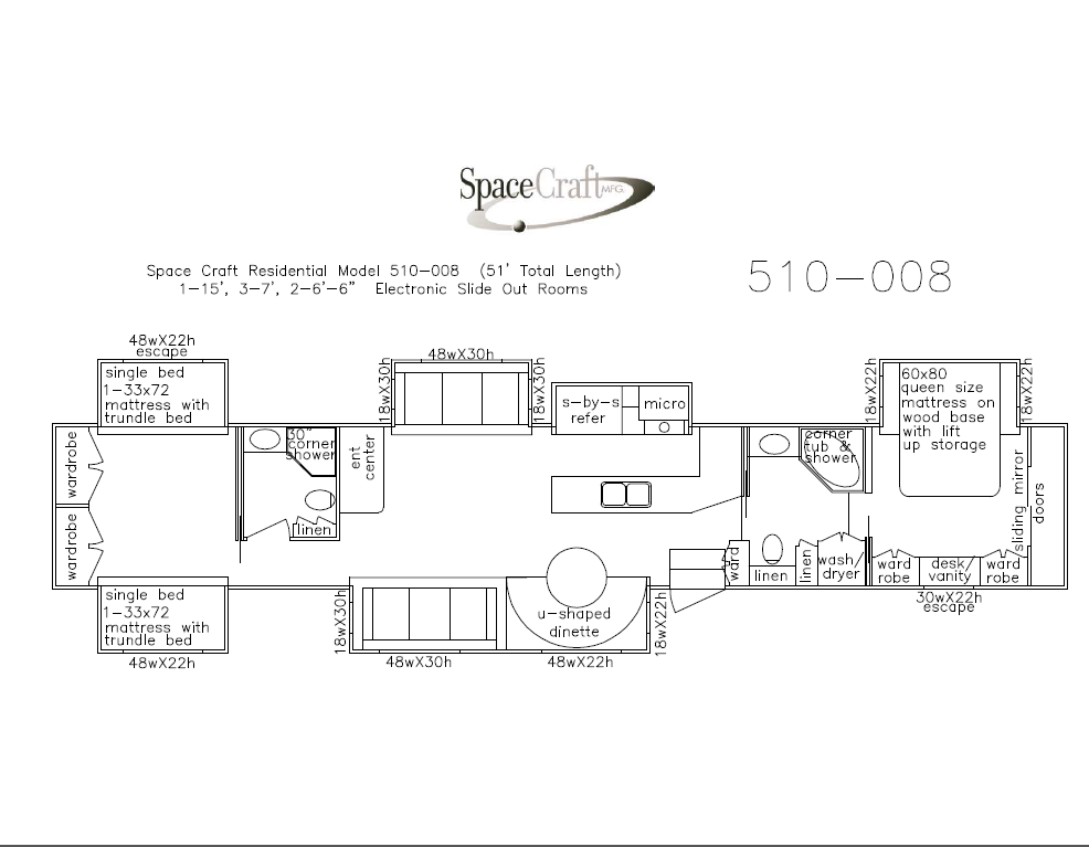 51 foot floor plan 510-008
