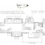 53 Foot Floor Plan 530-098