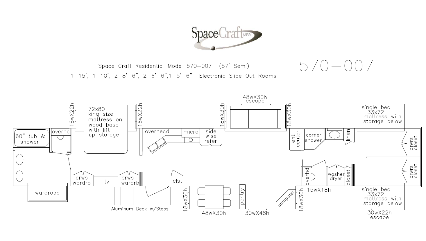 57 Foot Floor Plan 570-007