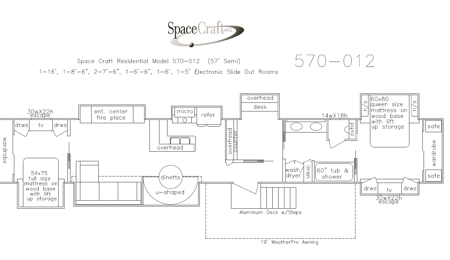 57 Foot Floor Plan 570-012