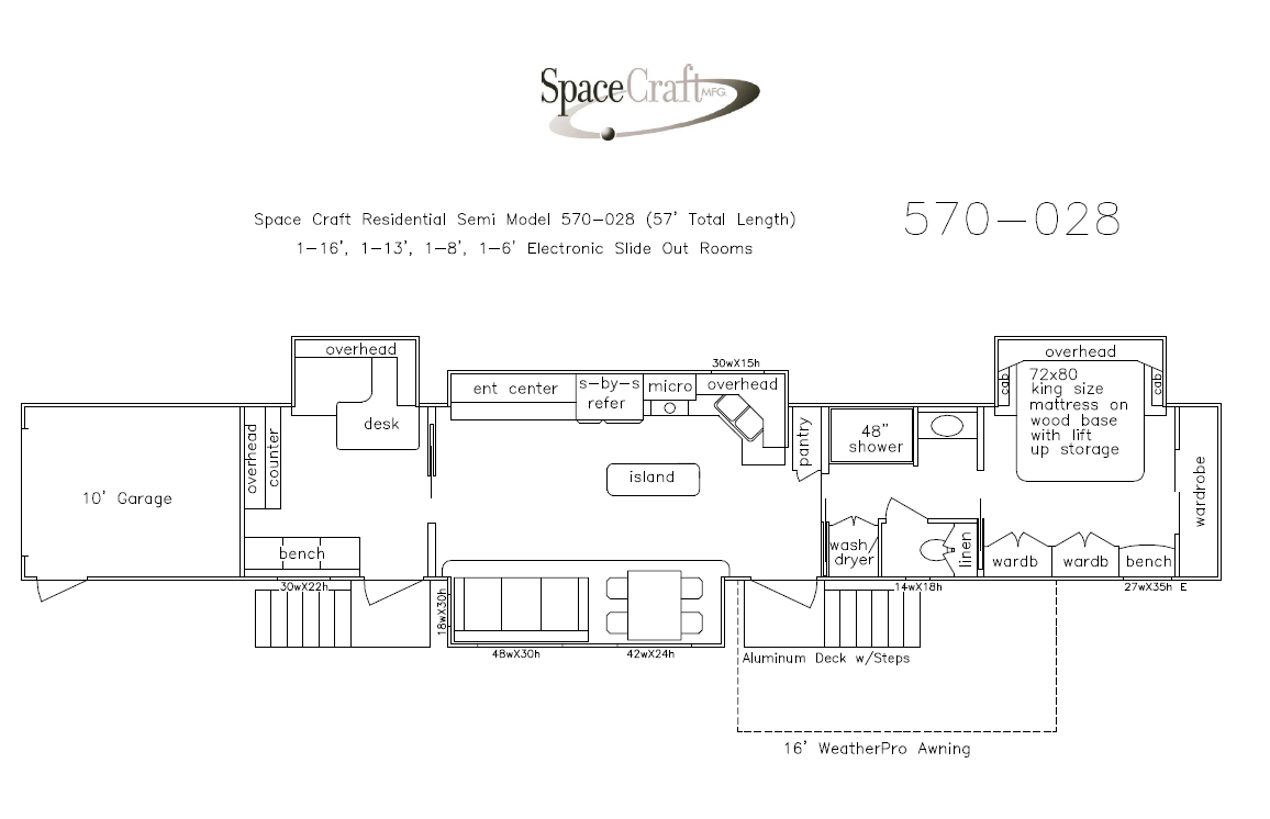 57 Foot Floor Plan 570-028