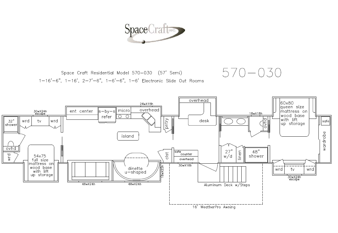 57 Foot Floor Plan 570-030