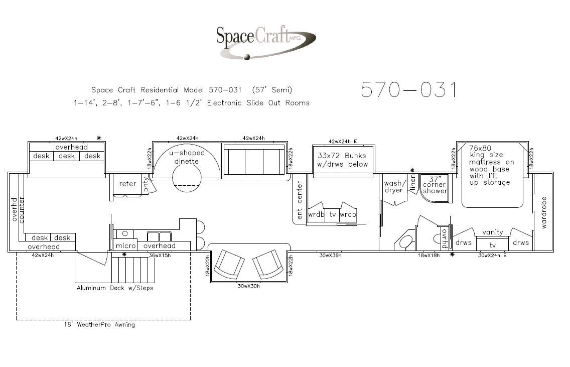 57 Foot Floor Plan 570-031