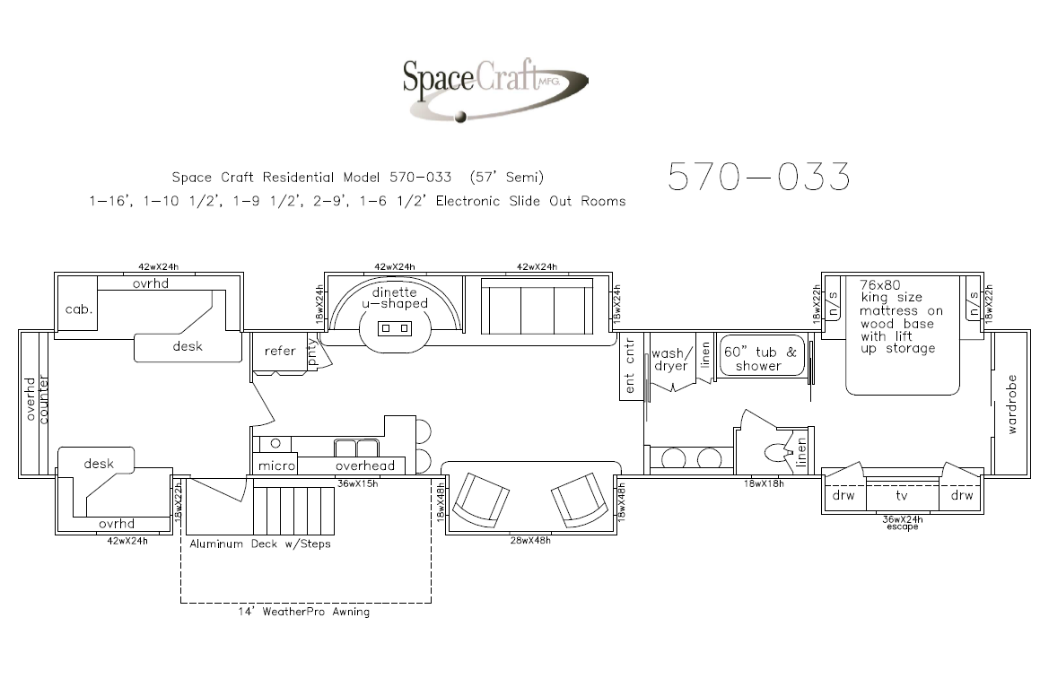 57 Foot Floor Plan 570-033