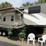 Entrance with Awning Extended Fifth Wheel