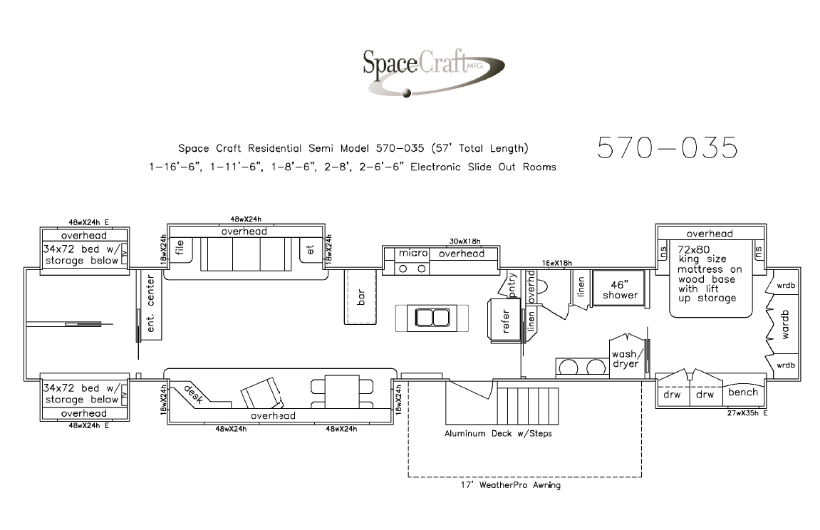 57 Foot Floor Plan 570-035