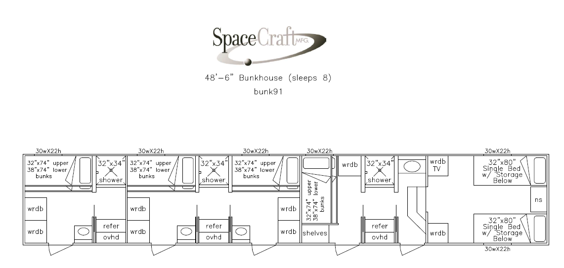 48.5 foot floor plan