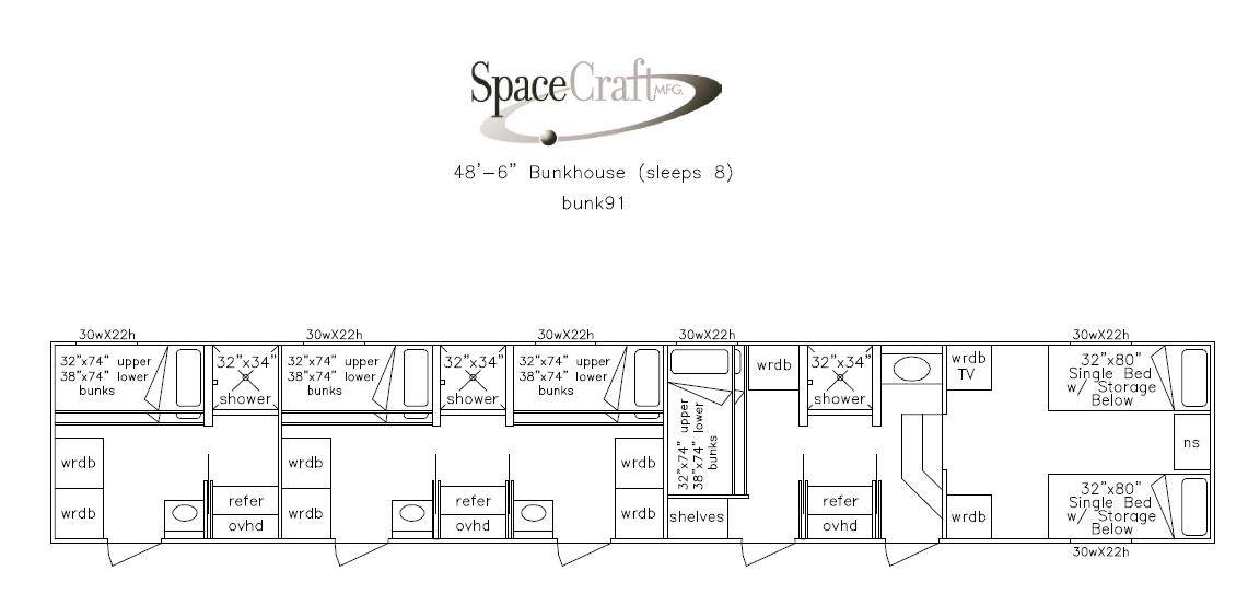 48.5 foot floor plan