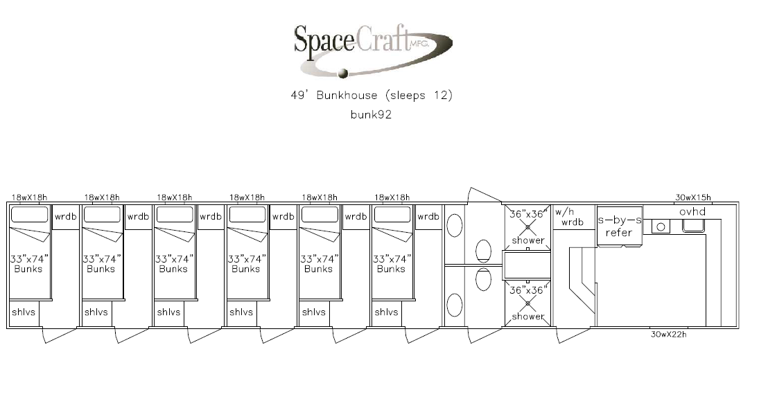 49 foot floor plan