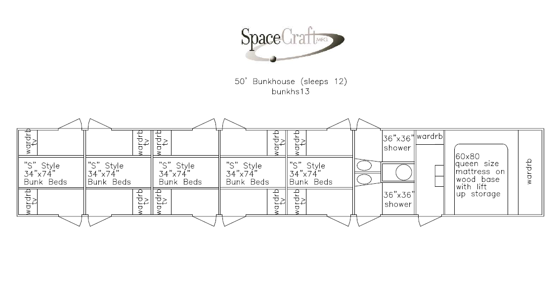 Gallery Standard Floor Box Size Trv007 33in Spacecraft Mfg