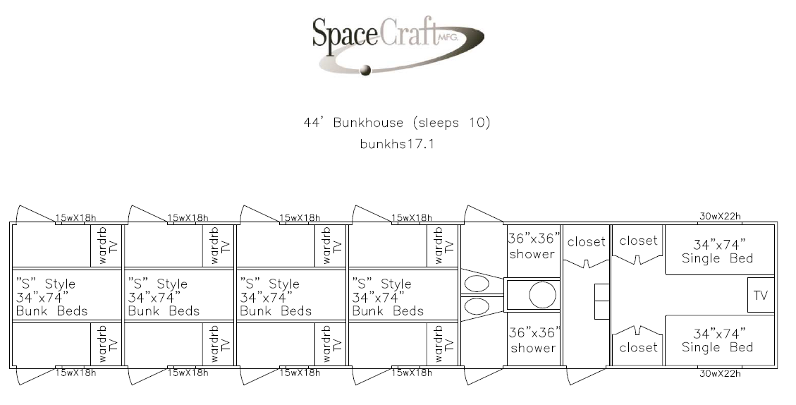 44 foot floor plan
