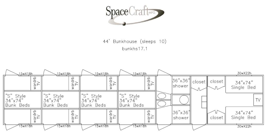 44 foot floor plan